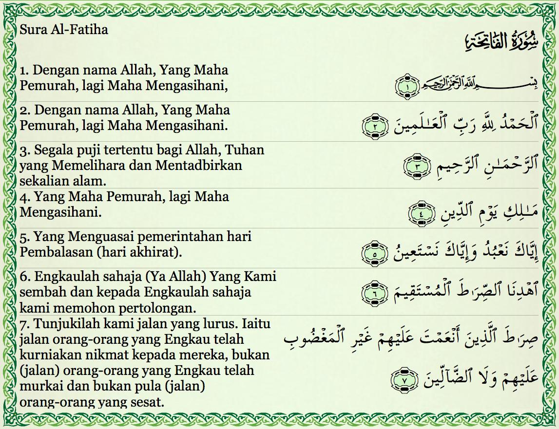 Khasiat Surah Al Fatihah Pengemis Ilmu