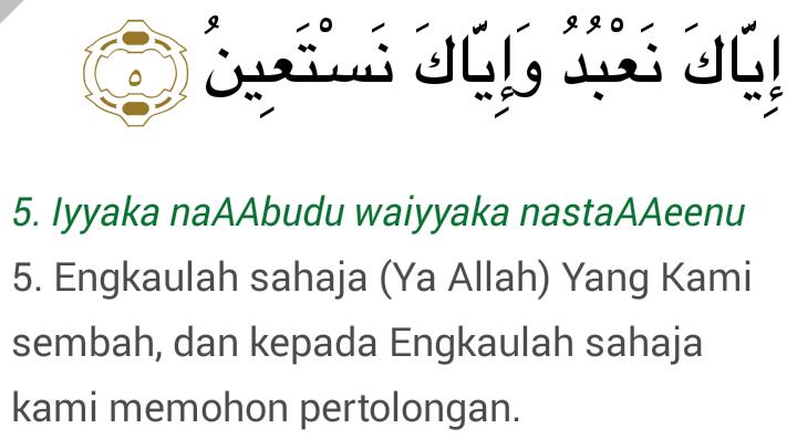 Tafsir Al Fatihah Ayat 5 Pengemis Ilmu